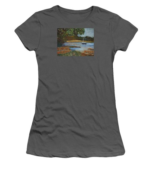 Women's T-Shirt (Junior Cut) featuring the painting Hospital Cove by Michael Helfen