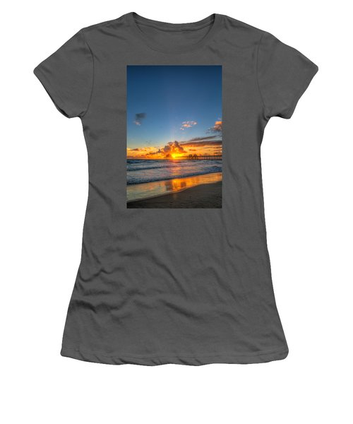 Hiding Sunset Women's T-Shirt (Athletic Fit)