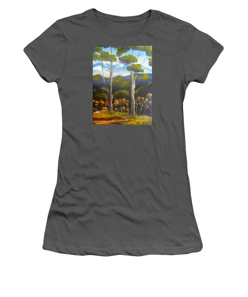Highlands Gum Trees Women's T-Shirt (Athletic Fit)