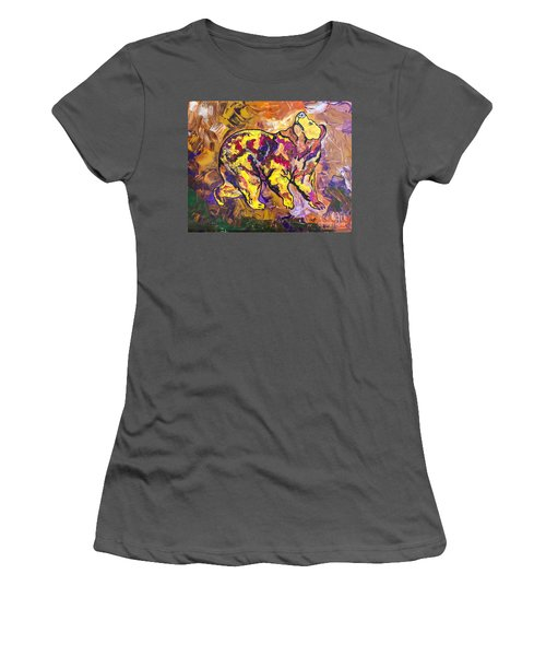 Women's T-Shirt (Junior Cut) featuring the painting Highland's North Carolina Bear by Janice Rae Pariza