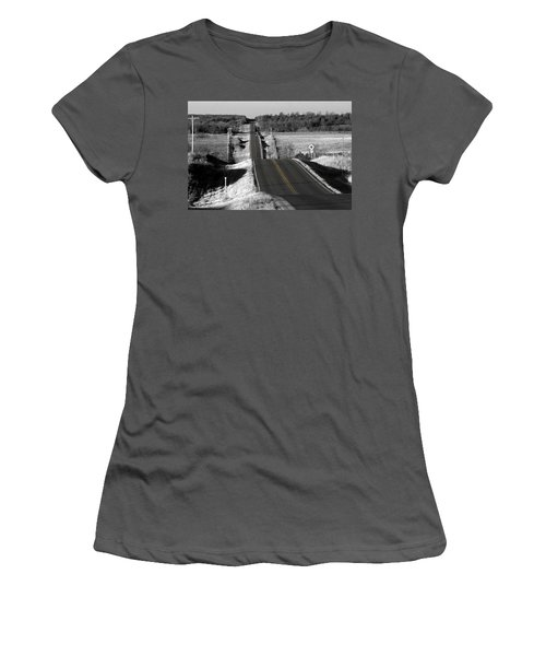Hilly Ride Women's T-Shirt (Athletic Fit)