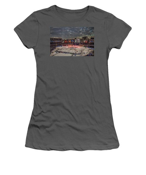Hockey At Yankee Stadium Women's T-Shirt (Athletic Fit)