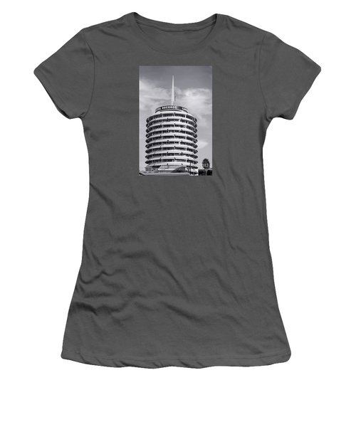 Hollywood Landmarks - Capitol Records Women's T-Shirt (Athletic Fit)