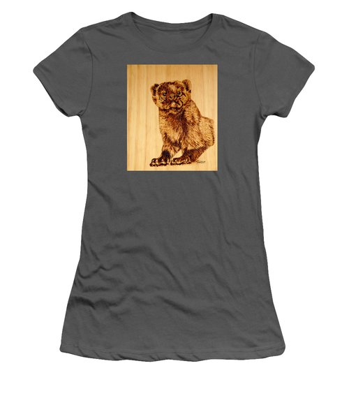 Women's T-Shirt (Junior Cut) featuring the pyrography Hope's Marten by Ron Haist