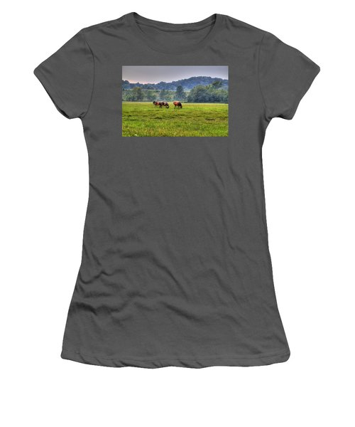 Horses In A Field 2 Women's T-Shirt (Athletic Fit)