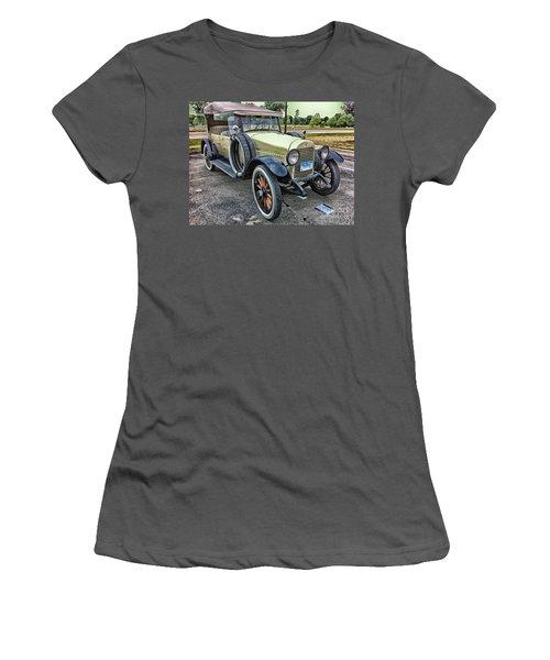Women's T-Shirt (Junior Cut) featuring the photograph hudson 1921 phaeton car HDR by Paul Fearn