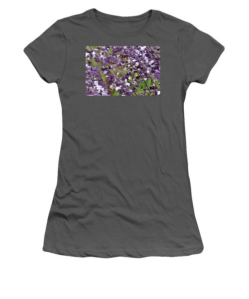 Hummingbird Flowers Women's T-Shirt (Athletic Fit)