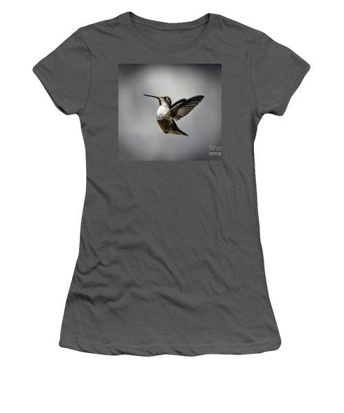 Hummingbird Women's T-Shirt (Junior Cut) by Savannah Gibbs