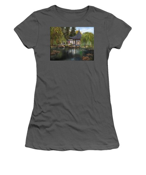 Huntington Chinese Gardens Women's T-Shirt (Junior Cut) by LaVonne Hand
