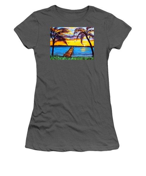 Hurry Sundown Women's T-Shirt (Junior Cut) by Ecinja Art Works