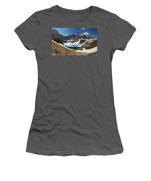 Women's T-Shirt (Junior Cut) featuring the photograph Iceberg Lake by Aaron Aldrich