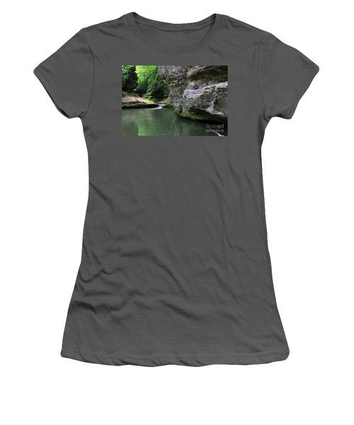 Women's T-Shirt (Junior Cut) featuring the photograph Illinois Canyon May 2014 by Paula Guttilla