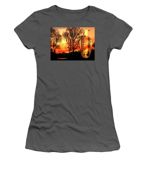 Women's T-Shirt (Junior Cut) featuring the photograph Illusion by Joyce Dickens
