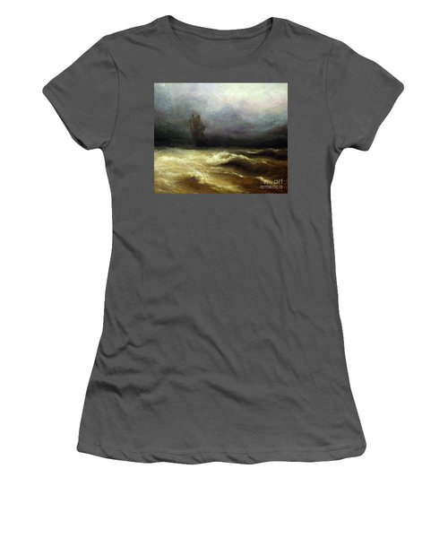 Women's T-Shirt (Junior Cut) featuring the painting In Shadow by Mikhail Savchenko