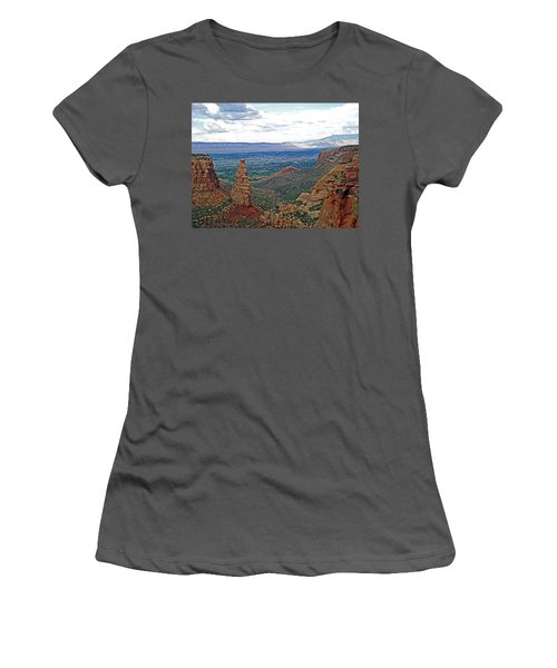Independence Monument In Colorado National Monument Near Grand Junction-colorado Women's T-Shirt (Athletic Fit)