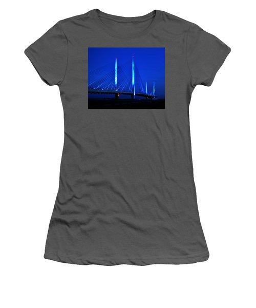 Indian River Bridge At Night Women's T-Shirt (Athletic Fit)
