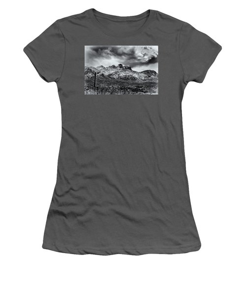 Women's T-Shirt (Junior Cut) featuring the photograph Into Clouds by Mark Myhaver