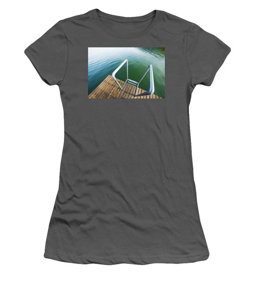 Women's T-Shirt (Junior Cut) featuring the photograph Into The Water by Chevy Fleet