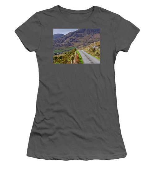 Women's T-Shirt (Junior Cut) featuring the photograph Irish Road by Suzanne Oesterling