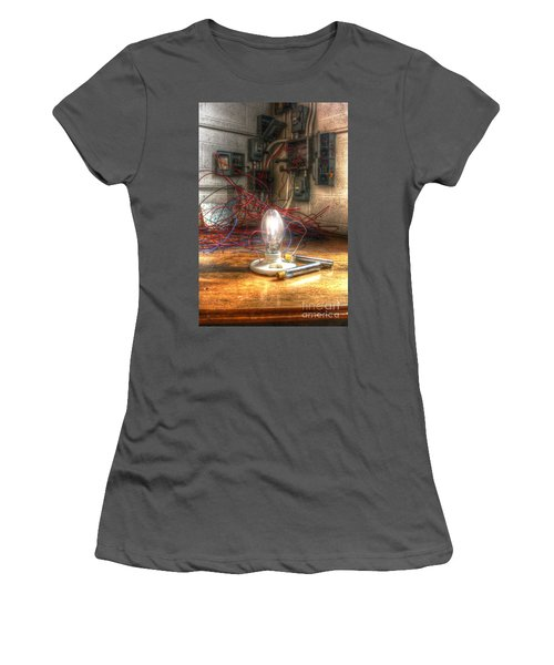 Is This Right Mr. Edison? Women's T-Shirt (Athletic Fit)