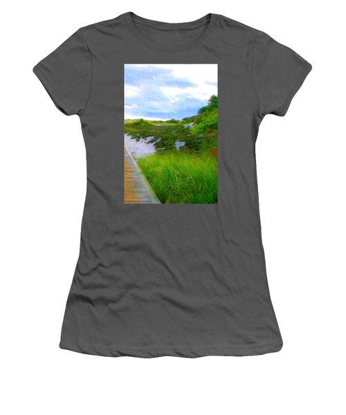 Island State Park Boardwalk Women's T-Shirt (Athletic Fit)