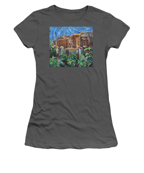 Isola Di Piante Large Italy Women's T-Shirt (Athletic Fit)