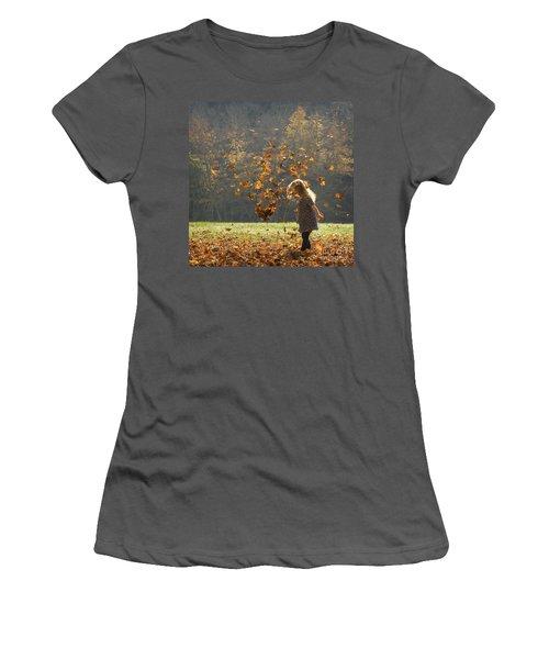 It's Raining Leaves Women's T-Shirt (Athletic Fit)