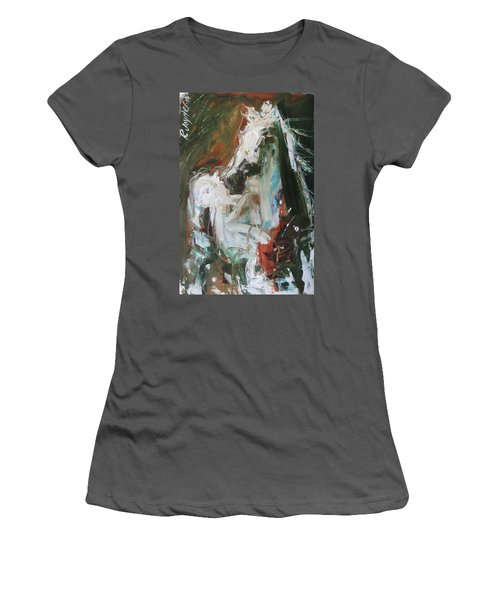 Women's T-Shirt (Junior Cut) featuring the painting Ivory by Robert Joyner