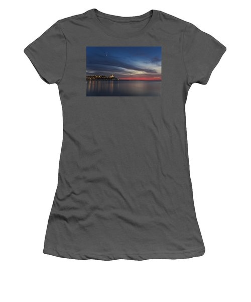 Women's T-Shirt (Athletic Fit) featuring the photograph Jaffa On Ice by Ron Shoshani