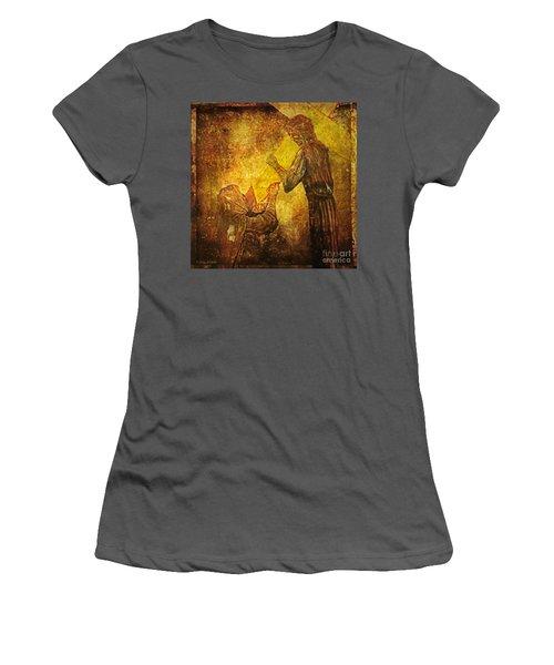Jesus Meets His Mother Via Dolorosa 4  Women's T-Shirt (Athletic Fit)