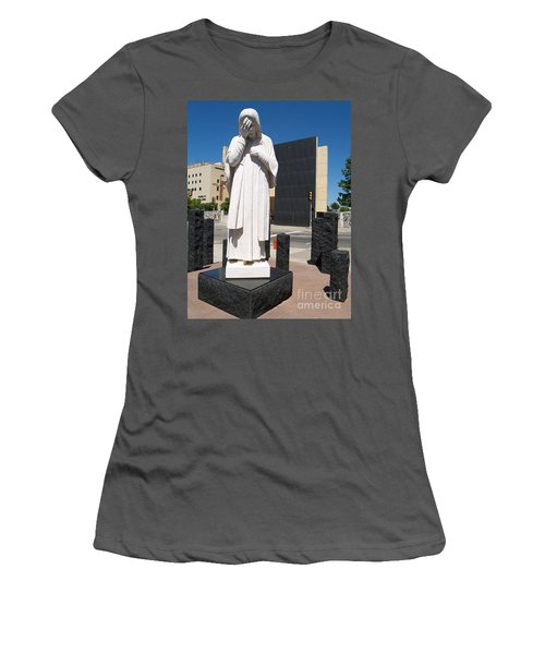 Women's T-Shirt (Junior Cut) featuring the painting Jesus Wept by Robin Maria Pedrero