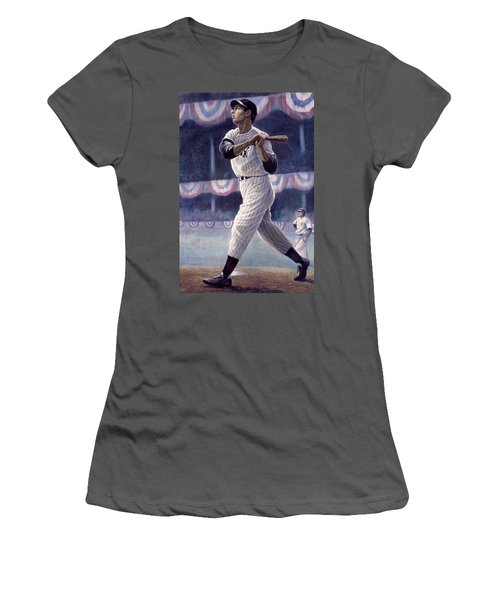 Joe Dimaggio Women's T-Shirt (Athletic Fit)