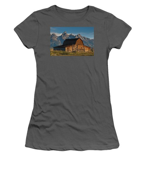 Women's T-Shirt (Junior Cut) featuring the photograph John And Bartha Moulton Barn by Jeff Goulden