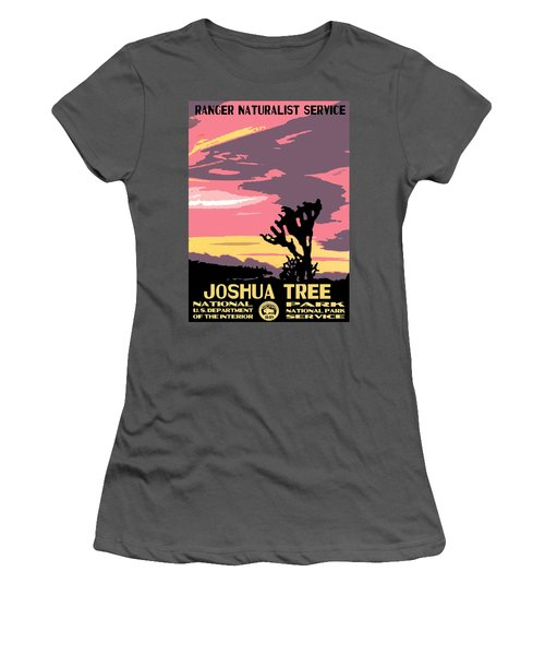 Joshua Tree National Park Vintage Poster Women's T-Shirt (Athletic Fit)