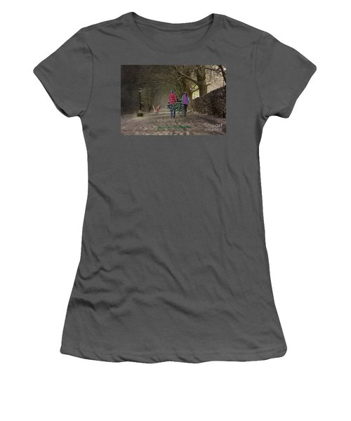 Joyeux Noel - Merry Christmas Women's T-Shirt (Junior Cut) by Lianne Schneider