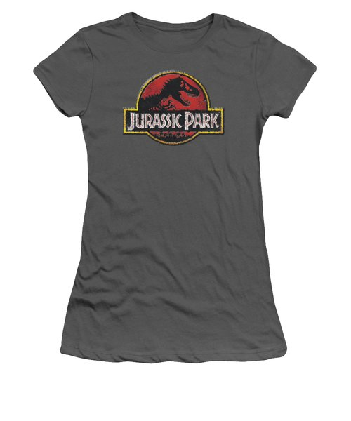 Jurassic Park - Stone Logo Women's T-Shirt (Junior Cut) by Brand A