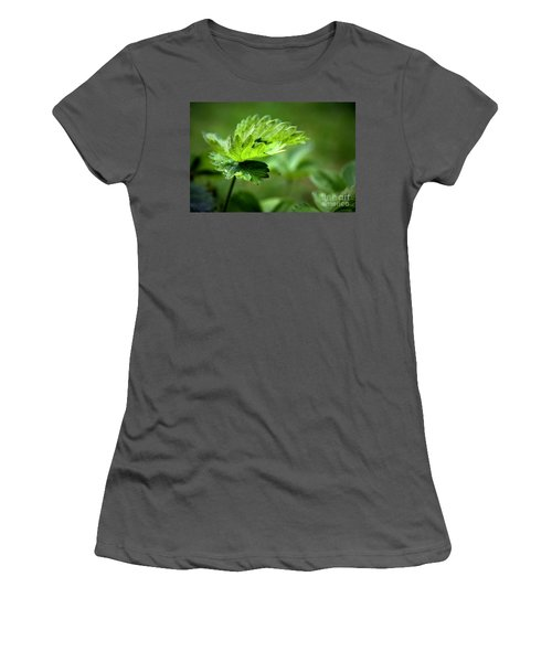 Just Green Women's T-Shirt (Athletic Fit)