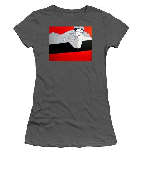 Just Relaxing Women's T-Shirt (Junior Cut) by Nora Shepley