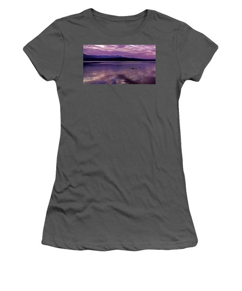 Women's T-Shirt (Junior Cut) featuring the photograph Kayak On Dabob Bay by Greg Reed