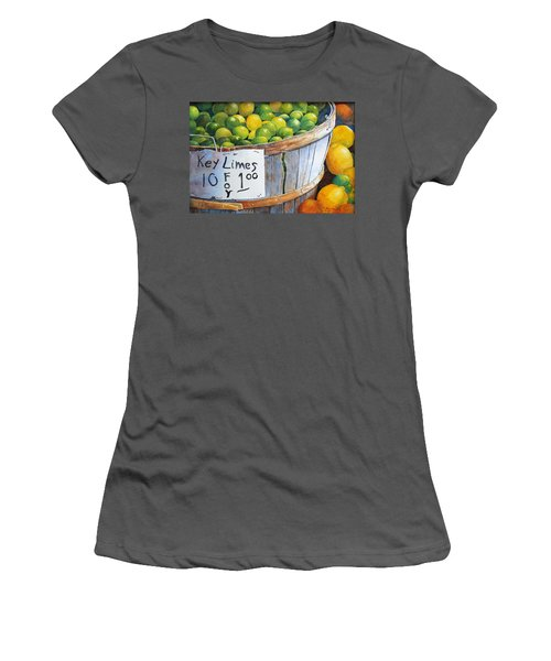 Key Limes Ten For A Dollar Women's T-Shirt (Athletic Fit)