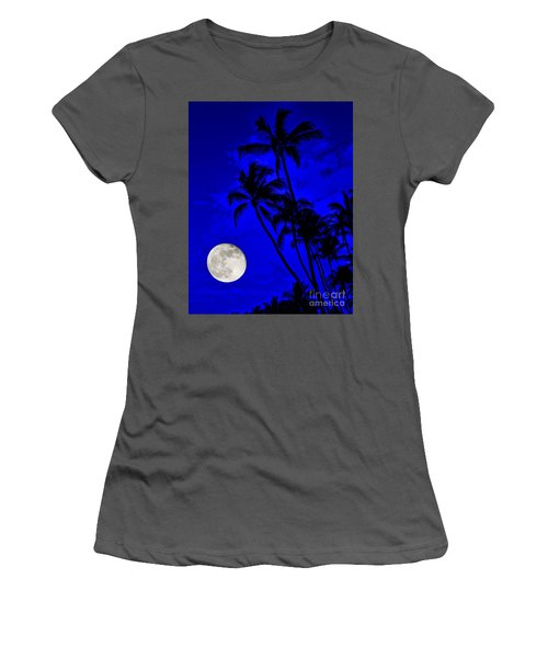 Kona Moon Rising Women's T-Shirt (Athletic Fit)