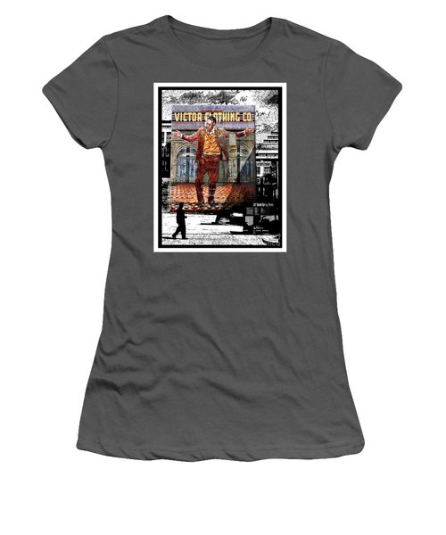 Women's T-Shirt (Junior Cut) featuring the digital art La City Beat Digitized by Jennie Breeze