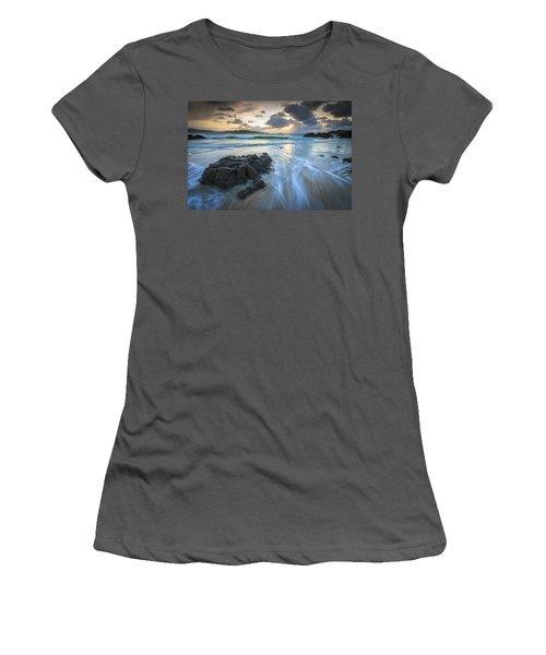 La Fragata Beach Galicia Spain Women's T-Shirt (Junior Cut) by Pablo Avanzini
