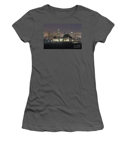 L.a. Skyline Women's T-Shirt (Athletic Fit)