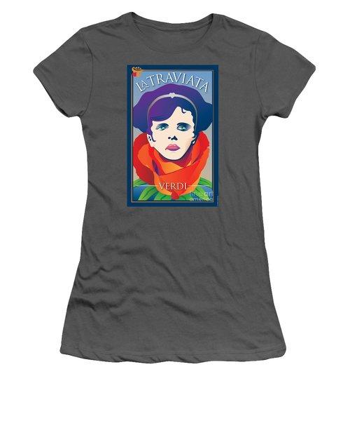 La Traviata Opera Women's T-Shirt (Athletic Fit)