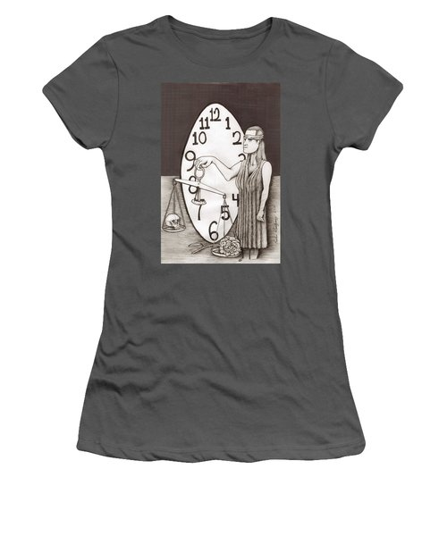 Lady Justice And The Handless Clock Women's T-Shirt (Athletic Fit)
