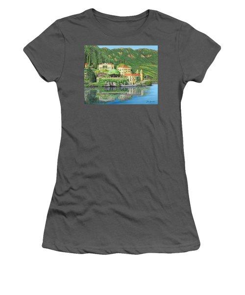 Lake Como Morning Women's T-Shirt (Athletic Fit)
