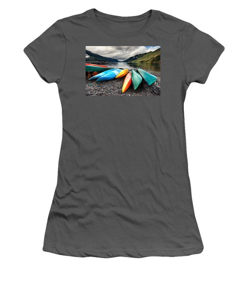 Lake Crescent Kayaks Women's T-Shirt (Athletic Fit)