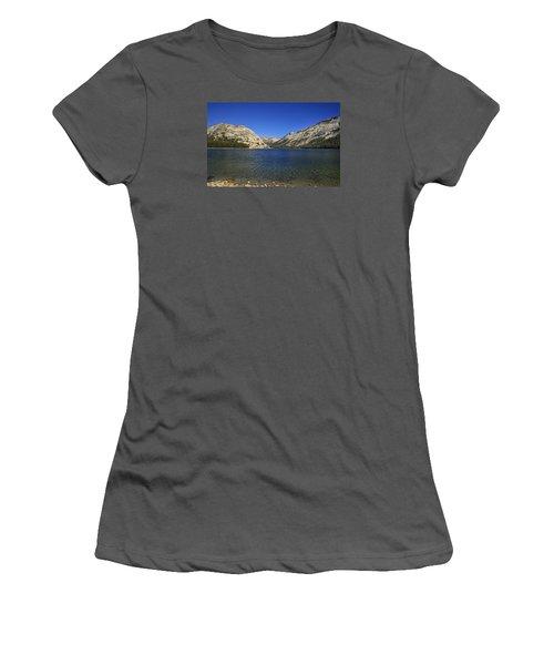 Lake Ellery Yosemite Women's T-Shirt (Junior Cut) by David Millenheft