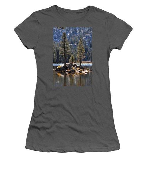 Lake Island Women's T-Shirt (Athletic Fit)